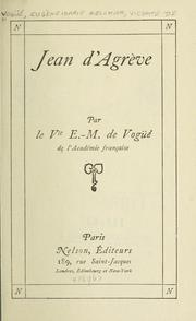Cover of: Jean d'Agrève.