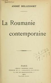 Cover of: La Roumanie contemporaine.