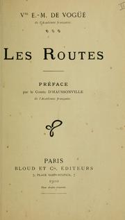 Cover of: Les routes.