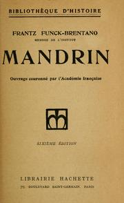 Cover of: Mandrin: capitaine des contrebandiers ...