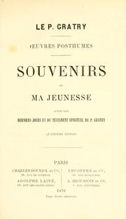 Cover of: Souvenirs de ma jeunesse
