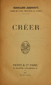 Cover of: Créer