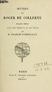 Cover of: Oeuvres.