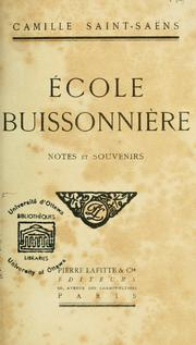 Cover of: Ecole buissonnière