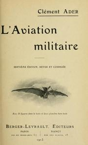 Cover of: L' aviation militaire.