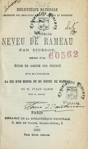 Cover of: Neveu de Rameau: and other works.