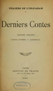 Cover of: Derniers contes