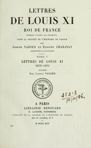 Cover of: Lettres