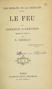 Cover of: Le feu.