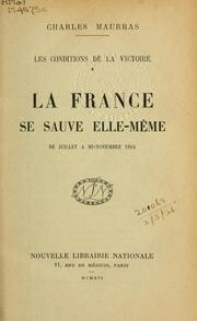 Cover of: Les conditions de la victoire.