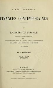 Cover of: Finances contemporaines.