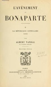 Cover of: L' avènement de Bonaparte.