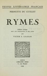 Cover of: Rymes.