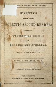 Cover of: McGuffey's newly revised eclectic first [-        ] reader ..