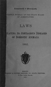 Cover of: Laws relating to contagious diseases of domestic animals