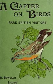Cover of: A chapter on birds