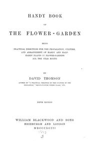 Cover of: Handy book of the flower-garden