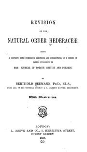 Cover of: Revision of the natural order Hederaceae