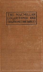 Cover of: Logarithmic and trigonometric tables