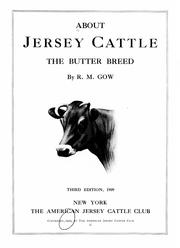 Cover of: About Jersey cattle