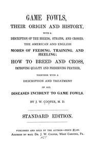 Cover of: Games fowls, their origin and history