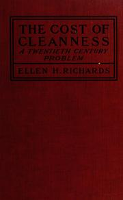Cover of: The cost of cleanness