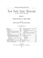 Cover of: Graptolites of New York