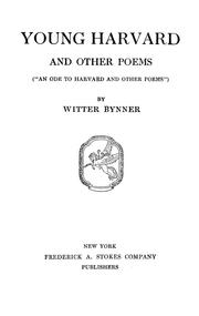 Cover of: Young Harvard and other poems