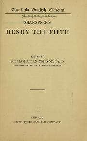 Cover of: Shakespeare's Henry the Fifth