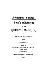 Cover of: Love's mistress
