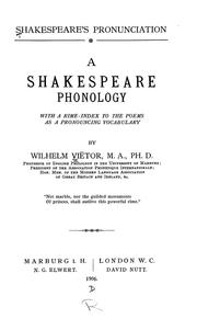 Cover of: Shakespeare's pronunciation