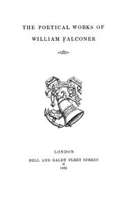 Cover of: The poetical works of William Falconer