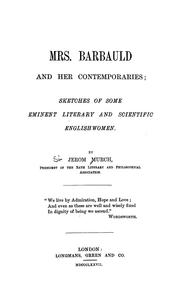 Cover of: Mrs. Barbauld and her contemporaries