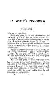 Cover of: A waif's progress