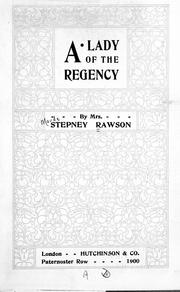 Cover of: A lady of the regency