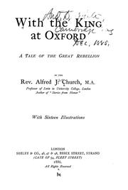 Cover of: With the king at Oxford: a tale of the Great Rebellion