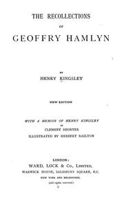 Cover of: The recollections of Geoffrey Hamlyn