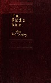 Cover of: The riddle ring, a novel