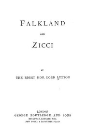 Cover of: Falkland, and Zicci