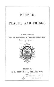 Cover of: People, places, and things