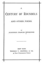 Cover of: A century of roundels, and other poems