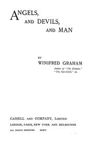 Cover of: Angels, and devils, and man.