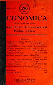 Cover of: The relation between wholesale and retail prices since the war.