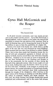 Cover of: Cyrus Hall McCormick and the reaper