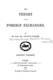 Cover of: The theory of the foreign exchanges ...