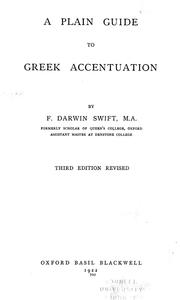 Cover of: A plain guide of Greek accentuation
