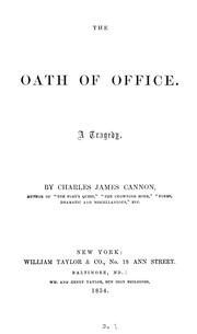 Cover of: The oath of office: a tragedy