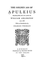 Cover of: The golden ass of Apuleins