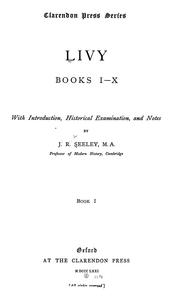 Cover of: Livy, books I-X