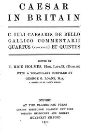Cover of: Caesar in Britain: selection from the fourth and fifth books of Caesar's gallic war.